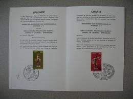 Document  1976   Europa -Conseil De L'Europe Strasbourg -  Jumelage Philatélique Philatélistische Partnerschaft - 1961-....