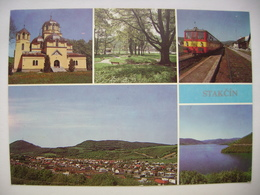 STAKCIN (Snina County) - Park, General View, Railway Station, Water-supply Reservoir Starina - 1990s Unused - Slovakia