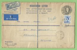 Entier Recommandé - Welwyn Garden City - Herts 1955 Vers Bruxelles - Ebenezer Howard Cités - Jardins - Architettura