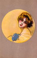 ART NOUVEAU / ART DÉCO : PORTRAIT De JEUNE FEMME / A YOUNG LADY'S PORTRAIT SIGNED : ZANDRINO - ANNÉE / YEAR 1917 (aa883) - Zandrino