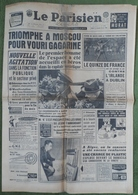 Avril 1961.Conquête De L'Espace,Youri Gagarine.Line Renaud.explosion Camp De Gitans à Marly. - Journaux - Quotidiens