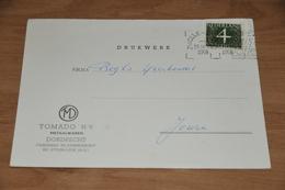 5    BEDRIJFSKAART  TOMADO N.V.  DORDRECHT - 1958 - Kaarten