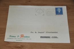 6    BEDRIJFSKAART  FIRMA P. BEUKERS, HILVERSUM - 1952 - Kaarten
