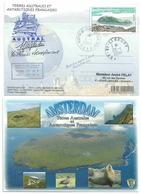 YT 455 - Ile De La Baleine - Lettre Postée à Bord Dr L'Austral - Martin De Vivies - Iles Saint Paul Et Amsterdam - Terres Australes Et Antarctiques Françaises (TAAF)