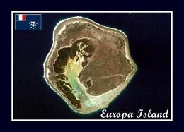 AK Iles Eparses Europa Island Satellite View Scattered Islands New Postcard - TAAF : Franse Zuidpoolgewesten