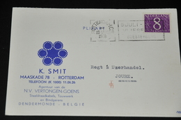 8    BEDRIJFSKAART   K. SMIT, ROTTERDAM / DENDERMONDE - 1958 - Kaarten