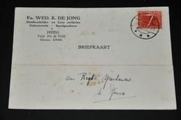 10    BEDRIJFSKAART   FA. WED. K. DE JONG, HEEG - 1955 - Kaarten