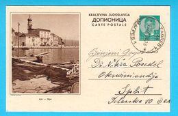 KRK ... Pictorial Stationery , Travelled 1938.y  ( Croatia ) * Island Veglia Kroatien Croazia Croatie - Croatia