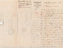 Lettre Commissaire Police à Mairie Rambervillers 88 / Cachet 1847 Et PP Rouge - France