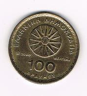 -&  GRIEKENLAND  100 DRACHMES  2000 - Grèce