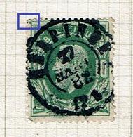 30  Obl  Dc  Gerpinnes  + 15  LV 67  Tache Coin Sup. Gauche - 1869-1883 Leopold II