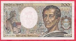 """200 Francs """"Montesquieu"""" 1985 ----F/TTB ---Série M.030 - 1962-1997 ''Francs''"""