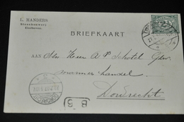 14    BEDRIJFSKAART   L. MANDERS, STEENHOUWERIJ, EINDHOVEN- 1907 - Kaarten