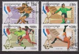 Sport - Football - CAMBODGE - Coupe Du Monde, France - N° 1491 à 1494 - 1998 - Cambodge