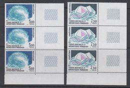 TAAF 1989 Minerals 2v  Strip Of 3 (corners) ** Mnh (TA216) - Ongebruikt