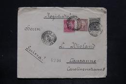 BRÉSIL - Enveloppe En Recommandé De Joinville Pour La Suisse En 1914 , Affranchissement Plaisant - L 25704 - Cartas