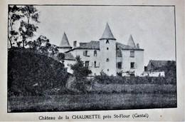 15 - SAINT-FLOUR - Sanatorium Du Château De La Chaumette Du Dr Saunal - Saint Flour