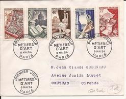 ENVELOPPE PREMIER JOUR METIERS D'ART PARIS 1954 - FDC