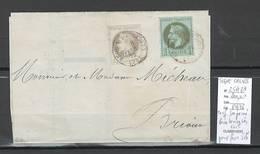 Lettre -Imprimé- Yvert 25 Et 27 - SIGNE CALVES - - Marcophilie (Lettres)