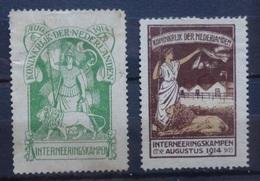 NEDERLAND    Interneringszegels   IN 1 - IN 2   Zonder Gom  Zie Foto's - Pays-Bas