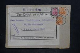 ALLEMAGNE - Type Germania Perforés AK Sur étiquette De Colis Commerciale De Buchholz En 1921 - L 25710 - Allemagne