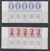 TAAF 1988 Lejay / Gessain 2v Strip Of 5 (printing Date) ** Mnh (TA221) - Ongebruikt
