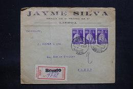PORTUGAL - Enveloppe Commerciale En Recommandé De Bossio Pour La France En 1930, Affranchissement Plaisant - L 25714 - 1910-... République