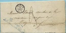 """1859  BRIEF+TAXE+INHOUD """"GOUVERNEUR PROV. NAMUR"""" V.NAMUR N.GIMNEE AANKOMST HEER Zie Scan(s) - Belgique"""