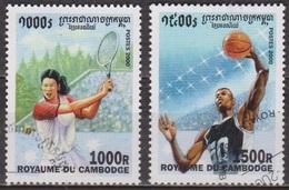 Sports Olympiques - CAMBODGE - Tennis Féminin - Basket Ball - N° 1747-1748 - 2000 - Cambodge