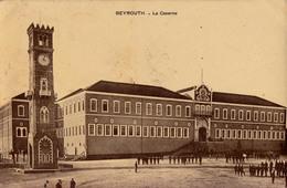 BEIRUT / BEYROUTH : LA CASERNE - CARTE POSTALE VOYAGÉE En 1910 De BEYROUTH / SYRIE à PLOIESTI / ROUMANIE (aa898) - Liban