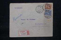 EGYPTE - Enveloppe Commerciale En Recommandé Du Caire Pour La France En 1907, Affranchissement Plaisant - L 25716 - Égypte