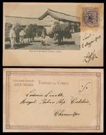 KOREA. 1903 (2 May). Seoul - Chemulpo. Fkd PPC / Ovptd. Issue / Cds / Italian Cruisera Calabria / Rusian Jap. - Korea (...-1945)