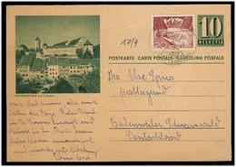 Switzerland - Stationery. 1961 (15 Aug). Amatterhorn - Germany. 10c Ilustrated Stat Card + Adtl. Fine. - Switzerland