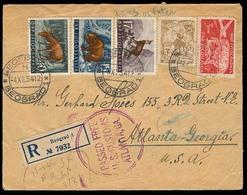 YUGOSLAVIA. 1954. Belgrade - USA. Reg Multifkd Env. VF. - Yugoslavia