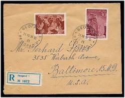 YUGOSLAVIA. 1956 (24 Dec). Belgrade - USA. Reg Multifkd Env. - Yugoslavia