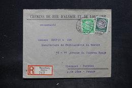 ALLEMAGNE - Enveloppe Commerciale En Recommandé De Neuenburg Pour La France En 1937, Affranchissement Plaisant - L 25718 - Allemagne