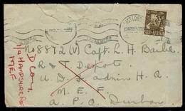 SOUTH AFRICA. 1944 (13 April). WW II. East London - MEF. Via Durban Fkd Env Via APO / Durban To Middle East Officer. Sca - Afrique Du Sud (1961-...)