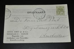 12    BEDRIJFSKAART   ANTH. SMIT Jr. & CO.   HAARLEM - 1917 - Kaarten