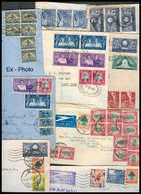 SOUTH AFRICA. 1935-50. Mail To UK Correspondance. Airmail Multfkd X 14 Diff Envs. Mostly Fine Incl Unusual Tied Labels. - Afrique Du Sud (1961-...)
