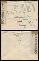 ALGERIA. 1943 (Aug). WWII / British Troops / GHQ / AF HQ. Scotland Fwded. Censored FM Env. - Algérie (1962-...)