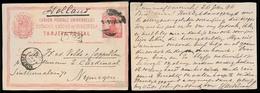 VENEZUELA. 1896 (26 Feb). Cumana - Netherlands. 10c Red Stat Card. Fine + Arrival. - Venezuela