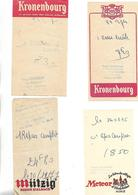 8 Facturettes / 52 PERTHES / Hôtel Du Commerce Chez MAX / Pub Bière STELLA KANTERBRAU KRONENBOURG MUTZIG METEOR - Facturen