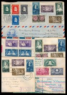 SOUTH AFRICA. 1952. 5 Diff Multiple Usages / Dest, One Mixed Netherlands Fkd Reg. Nice Group. - Afrique Du Sud (1961-...)