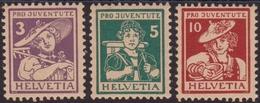 Svizzera Swiss - 682 ** 1916 – Pro Juventute Costumi, N. 151/153. Cat. € 200,00. SPL - Svizzera