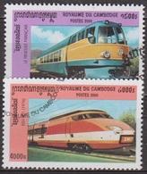 Transports - Chemins De Fer - CAMBODGE - Trains - Pendulaire Français, TGV - N° 1782l-1782m - 2000 - Cambodge