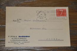 18    BEDRIJFSKAART   FA. D. BLOM ( J. DE KLERCK)  UTRECHT - 1955 - Kaarten
