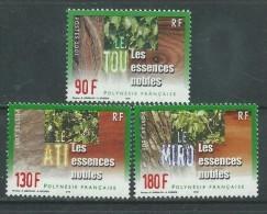Polynésie N° 647 / 49   XX Les Essences Nobles, Les 3 Valeurs Sans Charnière TB - Polynésie Française