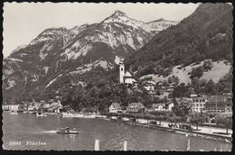 Schweiz - 6454 Flüelen Am Vierwaldstättersee - Promenade - Dampfer - Nice Stamp - UR Uri