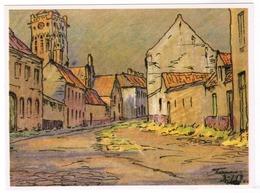 Veurne, Georges Lebacq, Pinxit, Klaverbladstraat (pk55736) - Veurne
