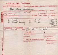 C3771 - Geithain - LPG 1. Mai - Rechnung - Landwirtschaft